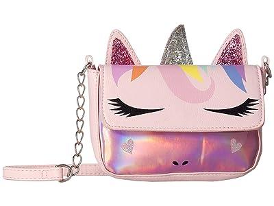 OMG! Accessories Rainbow Unicorn Critter Crossbody (Pink) Cross Body Handbags