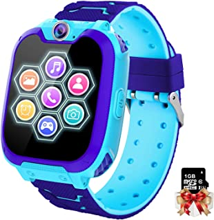 Montre Intelligente pour Enfants 7 Jeux - Musique MP3 Montre Enfants Fille Garçon, Appels Téléphoniques Montre à écran Tac...