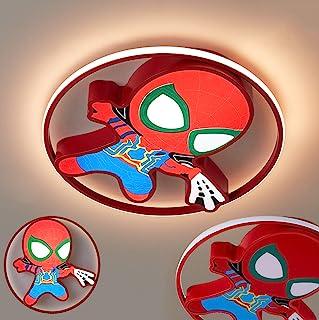 KBEST Lámpara LED habitación de niños Spider Man Lámpara de Techo Regulable para niños Lámpara de habitación para niños Luz de Techo