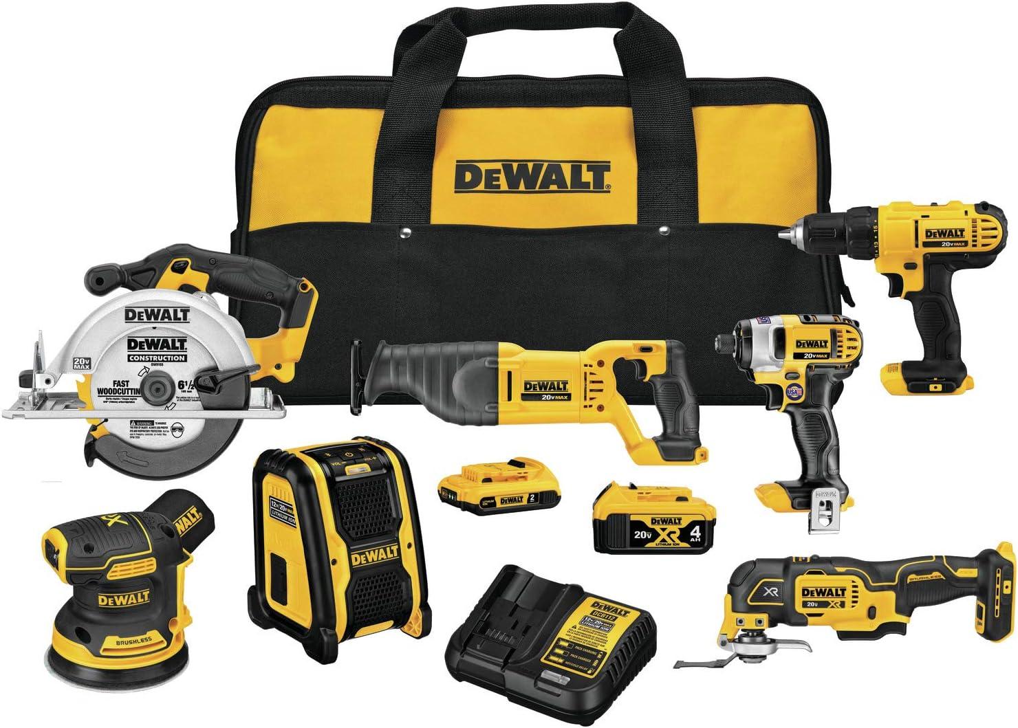 DEWALT 20V MAX Cordless Drill Combo 70% OFF Outlet 7-Tool Kit DCK771D1M1 Translated