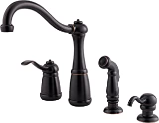 Pfister LG264NYY Marielle 1-Handle Kitchen Faucet with Side Spray & Soap Dispenser in Tuscan Bronze, Water-Efficient Model