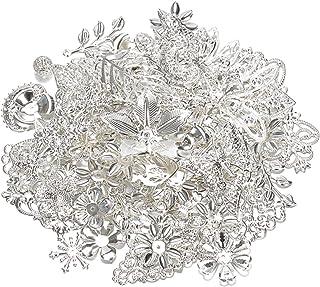 50 g 100 g blandad metall blomma filigran wraps kontakter järnhantverk gör-det-själv guld silver grossist berlocker smycke...