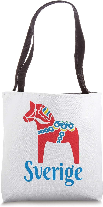 Sverige Sweden Swedish Dala Horse Dalecarlian horse Tote Bag