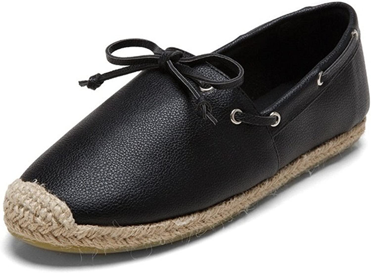 Pilusooou Functional Womens Ladies Casual Leather Loafers Flat shoes Moccasin