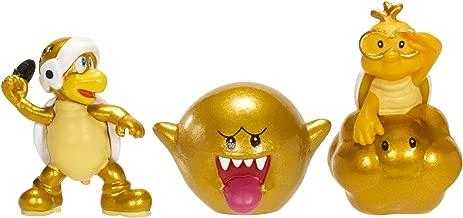 Nintendo Mario Bros U Micro Figure (3-Pack : Gold Lakitu/Gold Boo/Gold Turtle Guy)