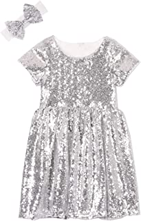 Flower Girl Dress Baby Toddlers Sequin Dress Kids Party Dress Bridesmaid Wedding Gown