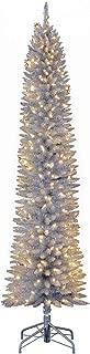 silver pre lit tree
