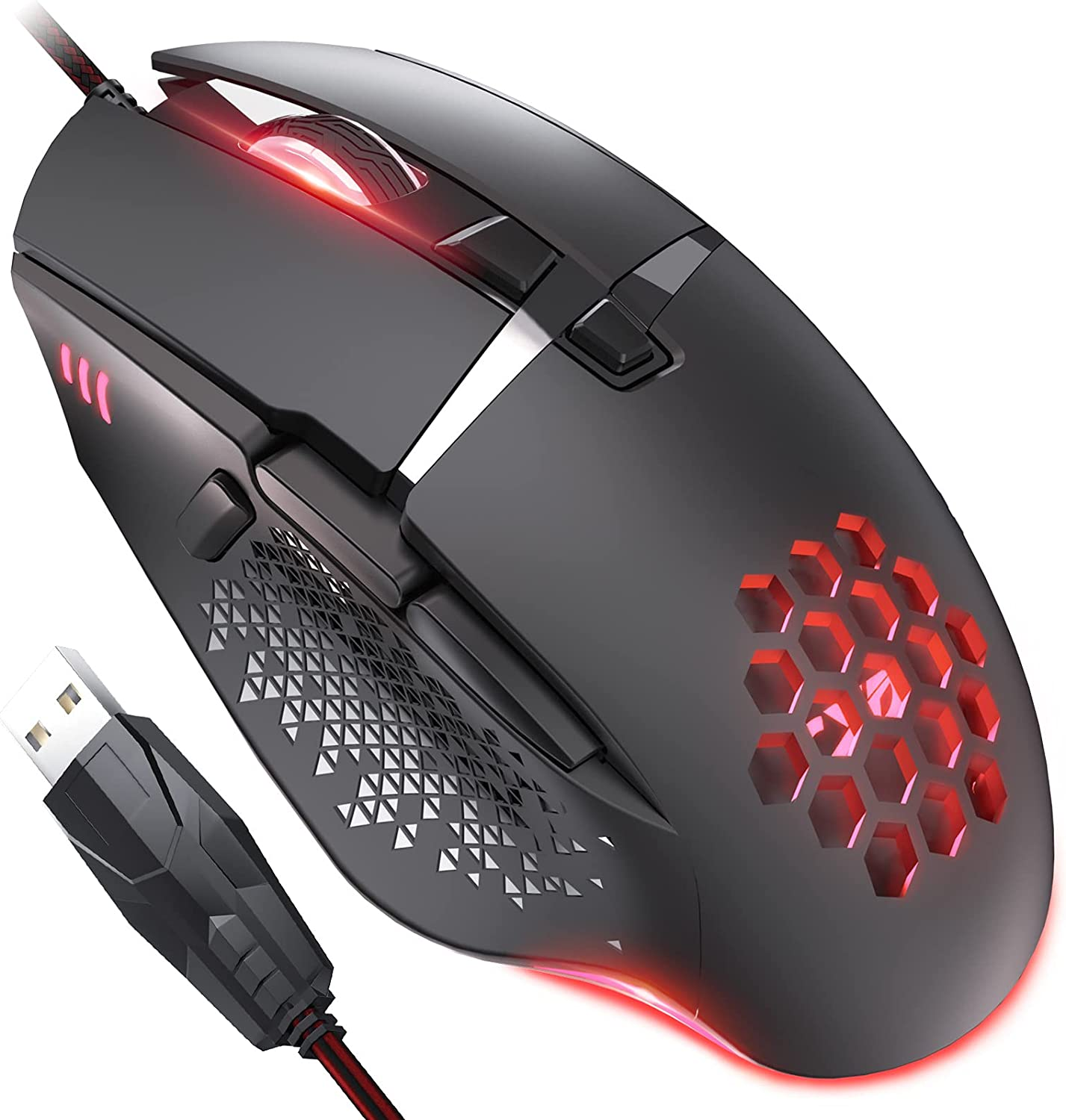 QYD Gaming Wired Mouse Lightweight USB Computer 8 unisex Prog with Mice Max 86% OFF