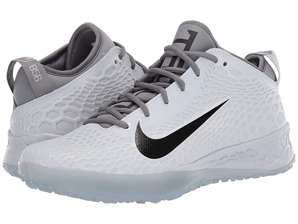 Nike Force Zoom Trout 5 Turf (Pure Platinum/Black/Wolf Grey/Cool Grey) Men's Cleated Shoes, White