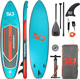 """Swonder 11'6 x 32"""" x 6"""" Inflatable Stand Up Paddleboard - Lightweight Paddle Board, Non-Slip Deck, 300lb Max Weight - Upgr..."""