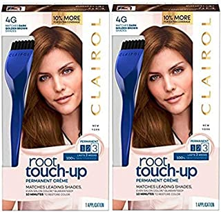 Clairol Nice N' Easy Root Touch Up, 104g, Dark Golden Brown, 2 Kits, 2 Count (packaging may vary)