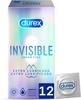 Durex Preservativos Invisibles Extra Lubricados - 12 condones