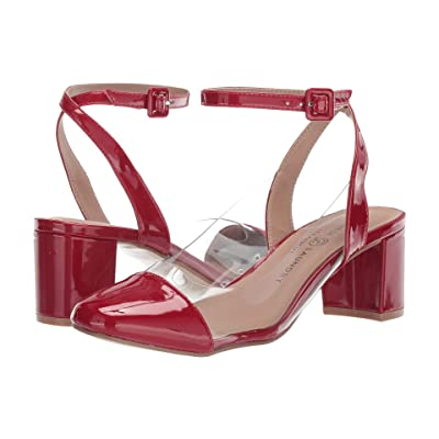 Chinese Laundry Linnie Vinyl (Red/Clear Pate) Women