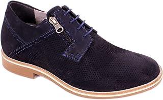 Max Denegri Zapato Casual Break Azul 7cms De Altura