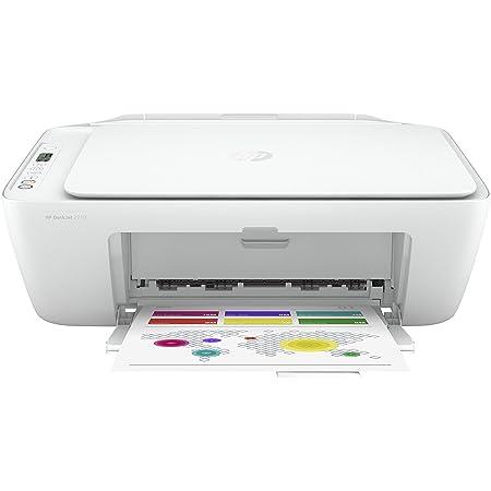 HP DeskJet 2710 5AR83B Stampante Fotografica Multifunzione A4, Stampa, Scansiona, Fotocopia, Wi-Fi, Wi-Fi Direct, HP Smart, No Stampa Fronte/Retro Automatica, 2 Mesi di HP Instant Ink Inclusi, Bianco