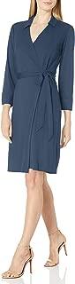 Lark & Ro Amazon Brand Women's Button Cuff Collared Wrap Dress