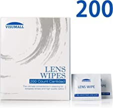 Lens Cleaning Wipes, Portable Cleansing Cloths Ideal for Eyeglasses, Camera Lenses, Tablets Screens, Keyboards Smart-Phones, Screens and Other Delicate Surfaces - 200 Individually Wrapped Wipes