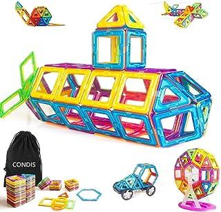 CONDIS 95 Piezas Bloques de Construcción Magnéticos para Niños, Juegos de Viaje Construcciones Magneticas Imanes Regalos C...