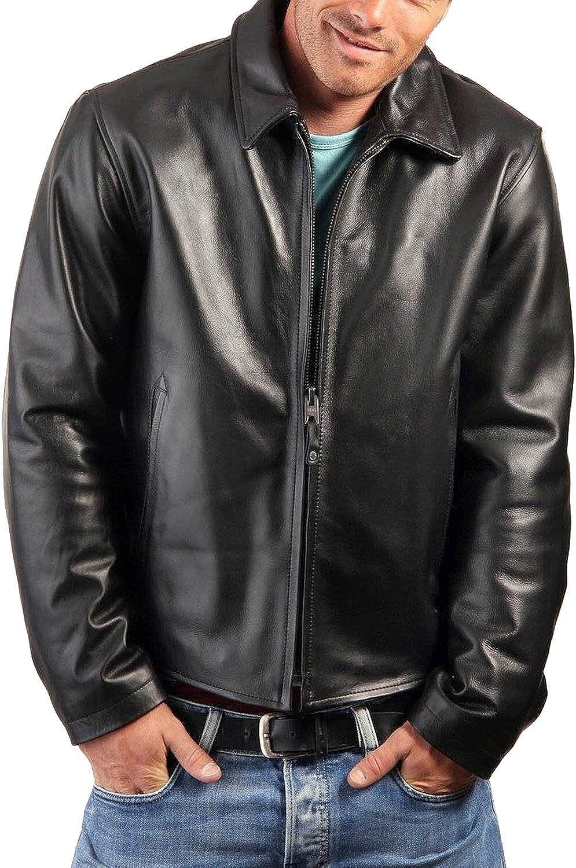 Laverapelle Men's Black Genuine Lambskin Leather Jacket - 5497