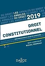 Livres Annales Droit constitutionnel 2019. Méthodologie & sujets corrigés (Annales du droit) PDF