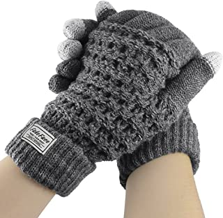 Touch Screen Gloves for Women Men Winter Outdoor Warm Wool Knit Cycling Gloves