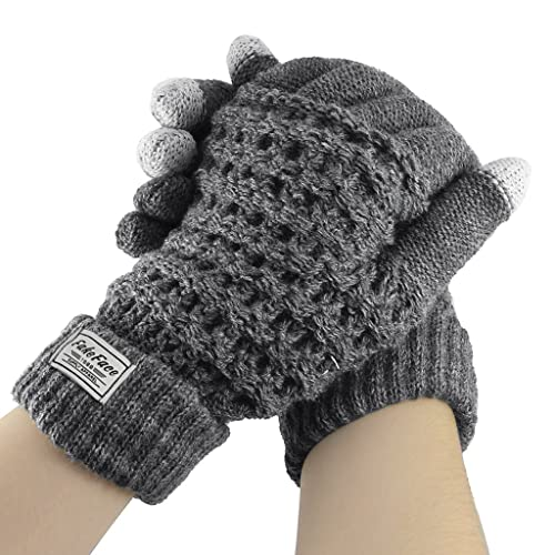 05fa77061 Touch Screen Gloves for Women Men Winter Outdoor Warm Wool Knit Cycling  Gloves