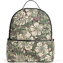 Coosun Aloha Hawaii Camouflage-Muster, Schulrucksack, leicht, Segeltuch, Buchtasche für Jungen und Mädchen