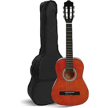 Navarra NV15 Guitare classique 1/2 Taille Naturel avec housse légèrement rembourré/2 pièce médiator