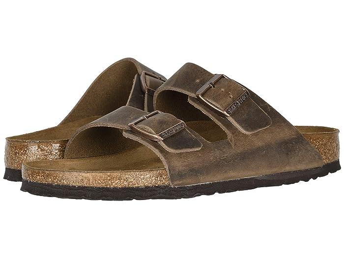 Birkenstock  Arizona - Oiled Leather (Unisex) (Tobacco Oiled Leather) Sandals