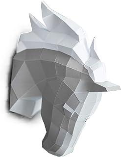 ORIGADREAM, Kit testa di cavallo NUOVO PUZZLE 3D MODERNO di assemblarsi per la decorazione della parete FAI DA TE PAPERCRA...