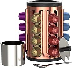 bonVIVO Kafono Nespresso Coffee Pod Holder, Sleek Design Nespresso Organizer with Sugar Holder, Decorative Coffee Bar Decor