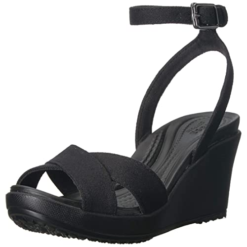 ed79ae23f Crocs Women s Leigh II Adjustable Ankle Strap Wedge Comfort Sandal