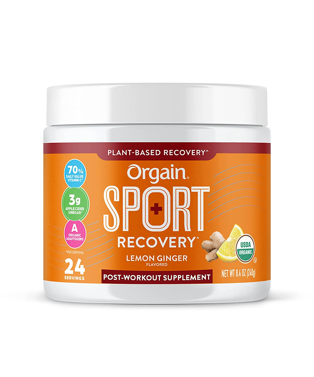 Orgain Lemonade 2021 Easy-to-use new Sport Recovery Post-Workout with A - Powder Made