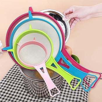 Tamis de Cuisine avec Poignée Plastique Multi Purpose Passoire de Cuisine 22cm