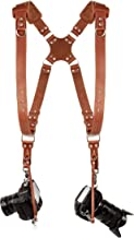 Camera Accessories Dual Harness Two Cameras - Shoulder Leather Strap - Multi Gear Double Camera Accessories DSLR/SLR ProInStyle Strap by Coiro