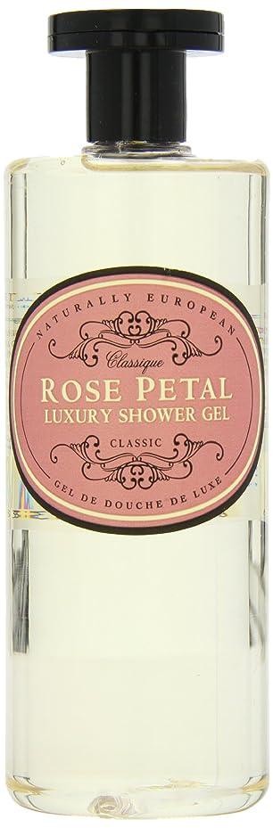 噛む相互接続音Naturally European Rose Petal Luxury Refreshing Shower Gel 500ml