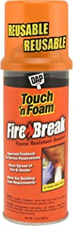 Touch 'n Foam Dap 10012 FireBreak Flame Resistant Sealant, 12 oz., Orange
