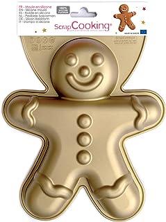 SCRAP COOKING Silicone Bonhomme Pain d'Épices, Grand Moule à Gâteau XXL en Forme de Mannala, Mannele, Gingerbread Noël, Pâ...