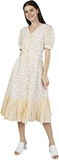 Iconic Women's 2091053 SS23SCHFMIDD Woven Cocktail Dress, Yellow