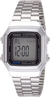 Casio A178WA-1A Vintage Series Silver Tone Retro Stainless Steel Unisex Digital Watch