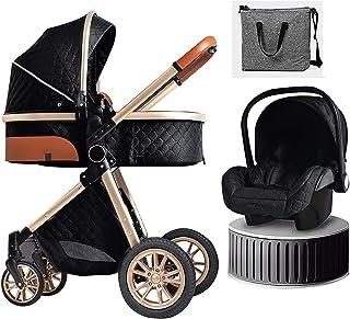 YQLWX Baby docka barnvagn nyfödd vagn 3 i 1 lätt Baby barnvagn reser system vikbar barnvagn med fotmuff kylplatta myggnät ...