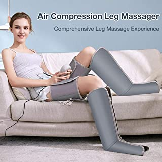 マッサージとリラクゼーションのための脚部空気圧迫、落ち着きのない足とふくらはぎの循環筋肉痛リンパ浮腫のためのハンドヘルドコントローラー付きシーケンシャルブーツデバイス,黒,US Plug