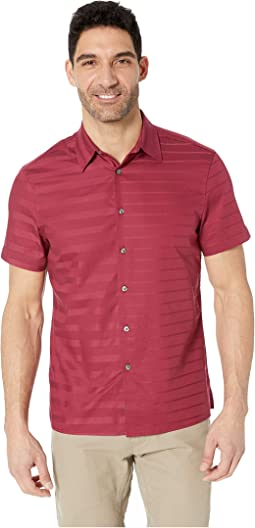 Sateen Engineered Stripe Shirt