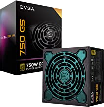 EVGA 220-G5-0750-X1 Super Nova 750 G5, 80 Plus Gold 750W, Fully Modular, ECO Mode with Fdb Fan, 10 Year Warranty, Compact ...