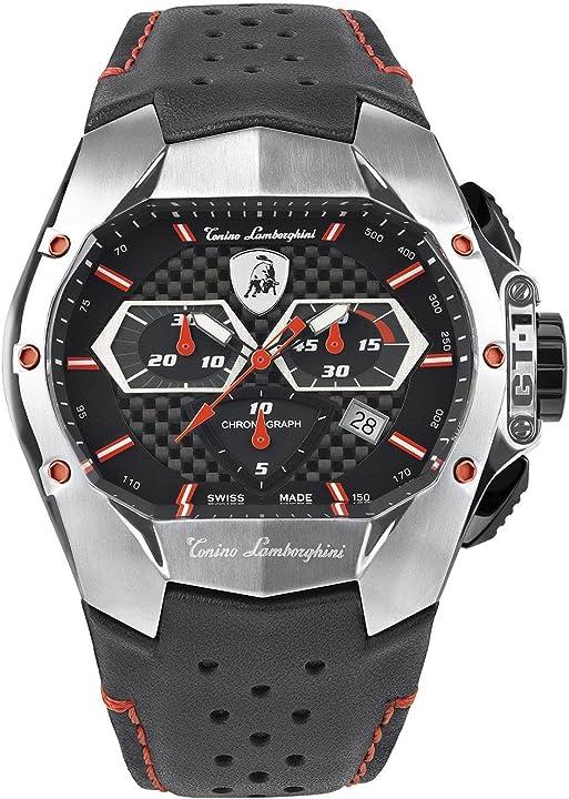 Orologio tonino lamborghini gt1 chronograph watch steel red T9GA-SS