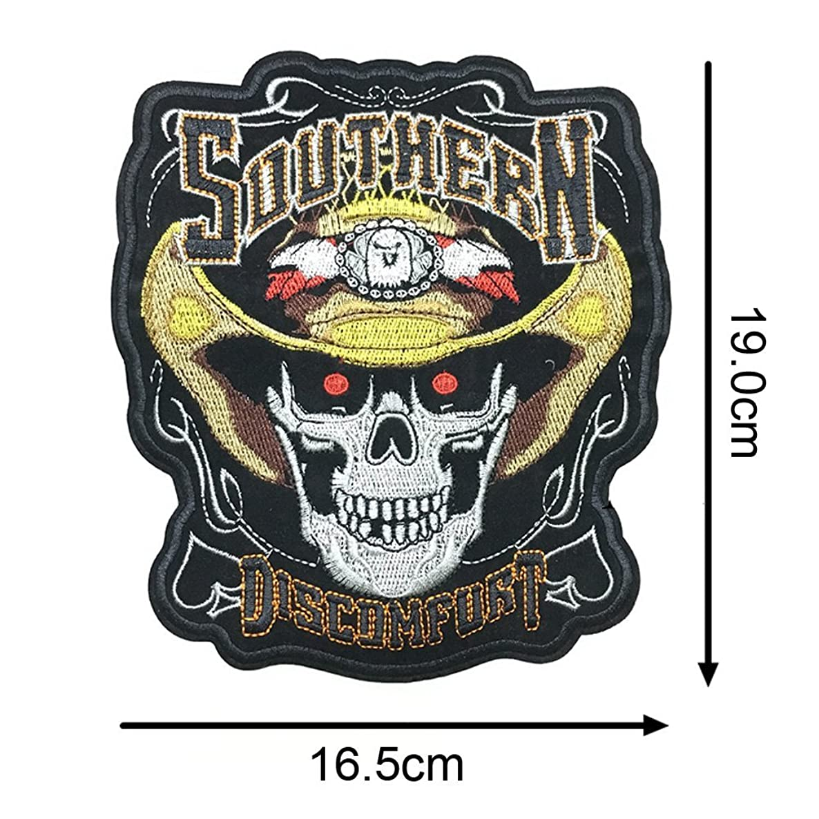 Riverbyland Iron On Patches for Jackets Cowboy Skull