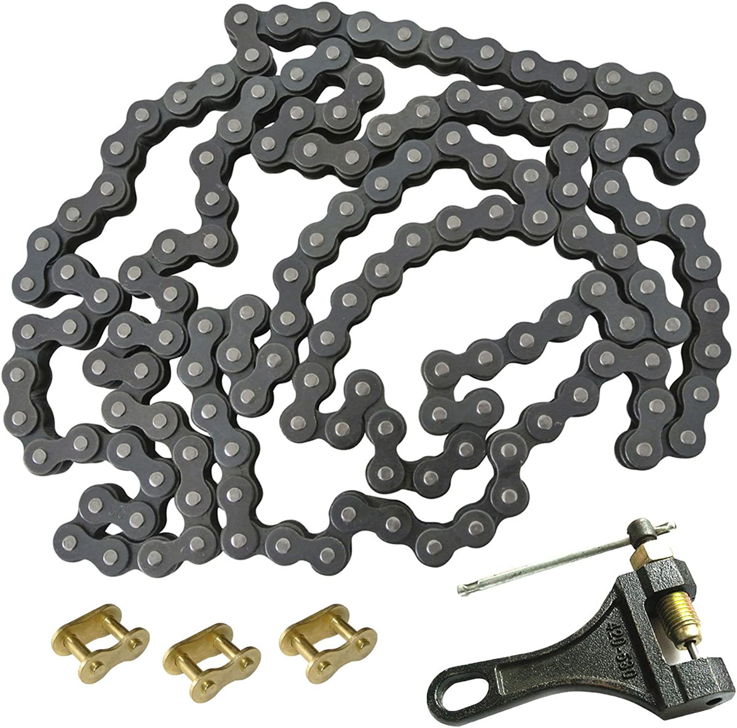 JRL 530 Chain Heavy Duty 140L with 1 Connecting Link & Chain Breaker for Motorcycle