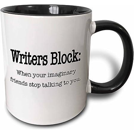 Amazon Com 3drose Please Do Not Annoy The Writer Black Mug 11 Oz Kitchen Dining