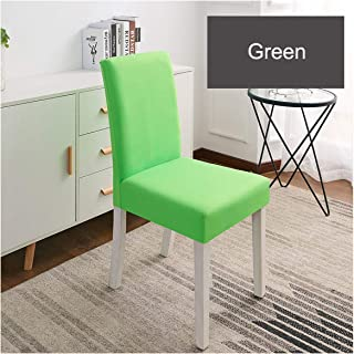 Toddor Solid Color Chair Cover Spandex Stretch Elastic Slipcovers Chair Covers White for Dining Room Kitchen Wedding Banquet Hotel,5-Green,Universal