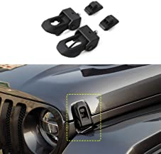 2018 for Jeep Wrangler JL Original Black Stainless Steel Latch Locking Hood Catch Kit for Jeep Wrangler 2007-2018 JK JL